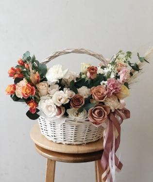 Корзина с цветами Фаберже