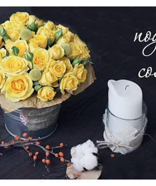 Цветы в ведре Селебрити