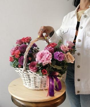 Цветочная корзина счастья