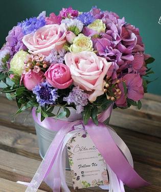 Цветы в ведерке Шармель