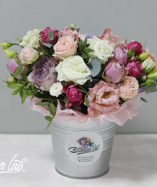 Цветы в ведре Сандерси