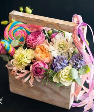 Цветы в ящике Лоллипоп