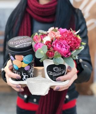 Цветы и Кофе Поздравляю