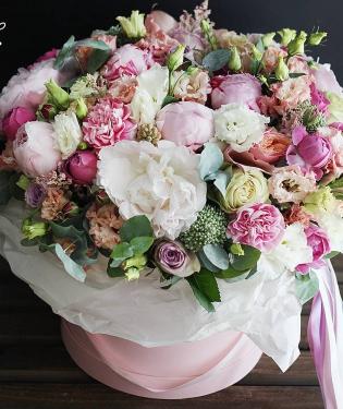 Цветы в коробке Тинкербелл