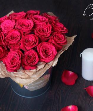 Цветы в ведре Королевский подарок